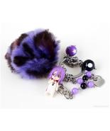 Murasakibara Atsushi Beaded Keychain, Bag Charm, Pastel Goth, Anime, Kawaii - $30.00