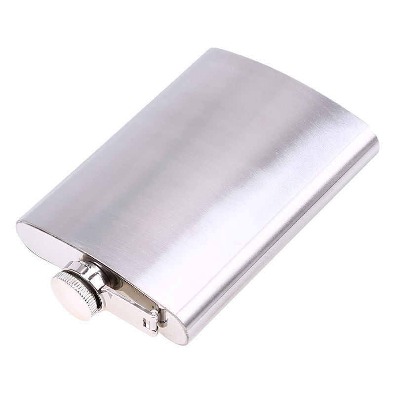 Vintage Cigar Box Poster D5 Flask 8oz Stainless Steel Hip Drinking Whiskey
