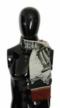 Dolce & Gabbana Mens Italy Print Wrap Shawl Cashmere Silk Scarf 135cm x ... - $292.05
