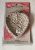 """Wilton 1997 """"I Love You"""" Heart Shaped True Love Cookie Mold New Factory Sealed - $10.65"""