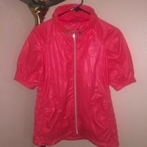 Women's Sunice Sophia Golf Wind Jacket Short Sleeve Full Zip Sz S Melon ... - $24.75