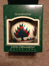Vintage 1986 Grandmother Glass Hallmark Ornamen... - $8.00