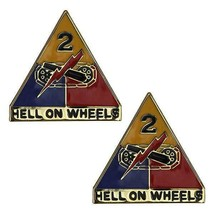 Genuine U.S Army Crest: Second Armored Division - Hell On Wheels - $18.79