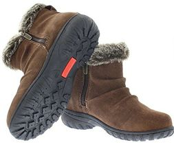 New in Box Khombu Women's Brown or Black Suede Lisa All Weather Winter Boots NIB image 3
