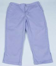 GAP KIDS GIRLS 7 STRETCH CAPRI PANTS PURPLE LAVENDER PANTS COTTON SPANDEX - $9.89
