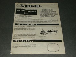 Lionel Micro Racers 027 Gauge Train Set 6-11771 [Instruction Book ONLY] 1989 - $6.00