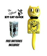 """MAJESTIC YELLOW KIT CAT CLOCK 15.5"""" Free Battery MADE IN THE USA Kit-Cat... - £48.86 GBP"""
