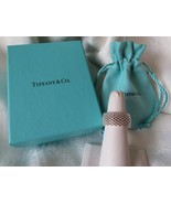 Tiffany & Co. Sterling Silver Somerset Mesh Wide Band Ring~Size 7~Box & ... - $200.00