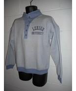 Vintage 70s 80s Lehigh University Henley Crop Sweatshirt Small S/XS - $49.99