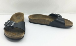 Birkenstock Black Madrid Single Strap Leather Sandals - Women's 36 EU 6 US - $46.50