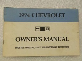 1974 Chevrolet Chevy Owners Manual 16015 - $18.76