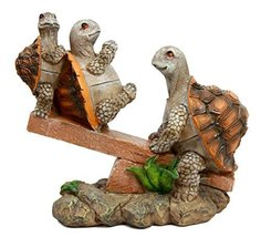 Ebros Gift Mother Turtle Playing with Her Babies On Forest Seesaw Decora... - $22.72