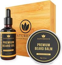Naturenics Premium Beard Oil & Balm Wax Unscented Kit- Made with 100% Pure, Orga image 1