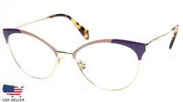 NEW MIU MIU VMU 50P USO-1O1 GOLD / RED / BEIGE EYEGLASSES 54-18-140 B45 ... - $97.01