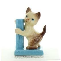 Hagen Renaker Cat Siamese Kitten with Scratching Post Ceramic Figurine