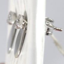 Boucles D'Oreilles or Blanc 750 18K Pendentifs,avec Fleur Zircon et Goutte image 2