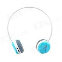 H308 Digital 2.4G Wireless Headphones w/ Microphone - Blue + White  - $36.93
