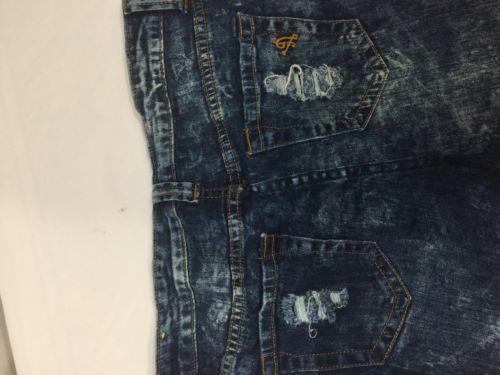 Vip Jeans Acid Wash Skirt Above Knee Regular Fit   Blue Cotton Size 11/12 image 10