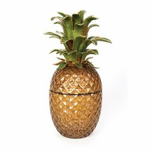 Jay Strongwater Winston Pineapple Jeweled Glass Jar SDH2456-289 14K matt... - $4,049.10