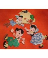 1950 JACK & JILL PIN-UPS Little Boy Blue DOLLY TOY CO Nursery Rhyme WALL... - $21.78