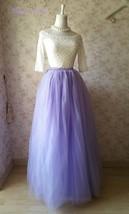Adult Floor Length Tulle Skirt High Waisted Wedding Puffy Tulle Skirt Purple image 6