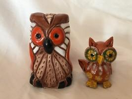 Set of 2 Clay Owl Vintage Figurines - $39.59