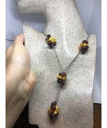 Vintage Genuine Baltic Amber beads 925 Sterling Silver Choker Necklace - $130.68