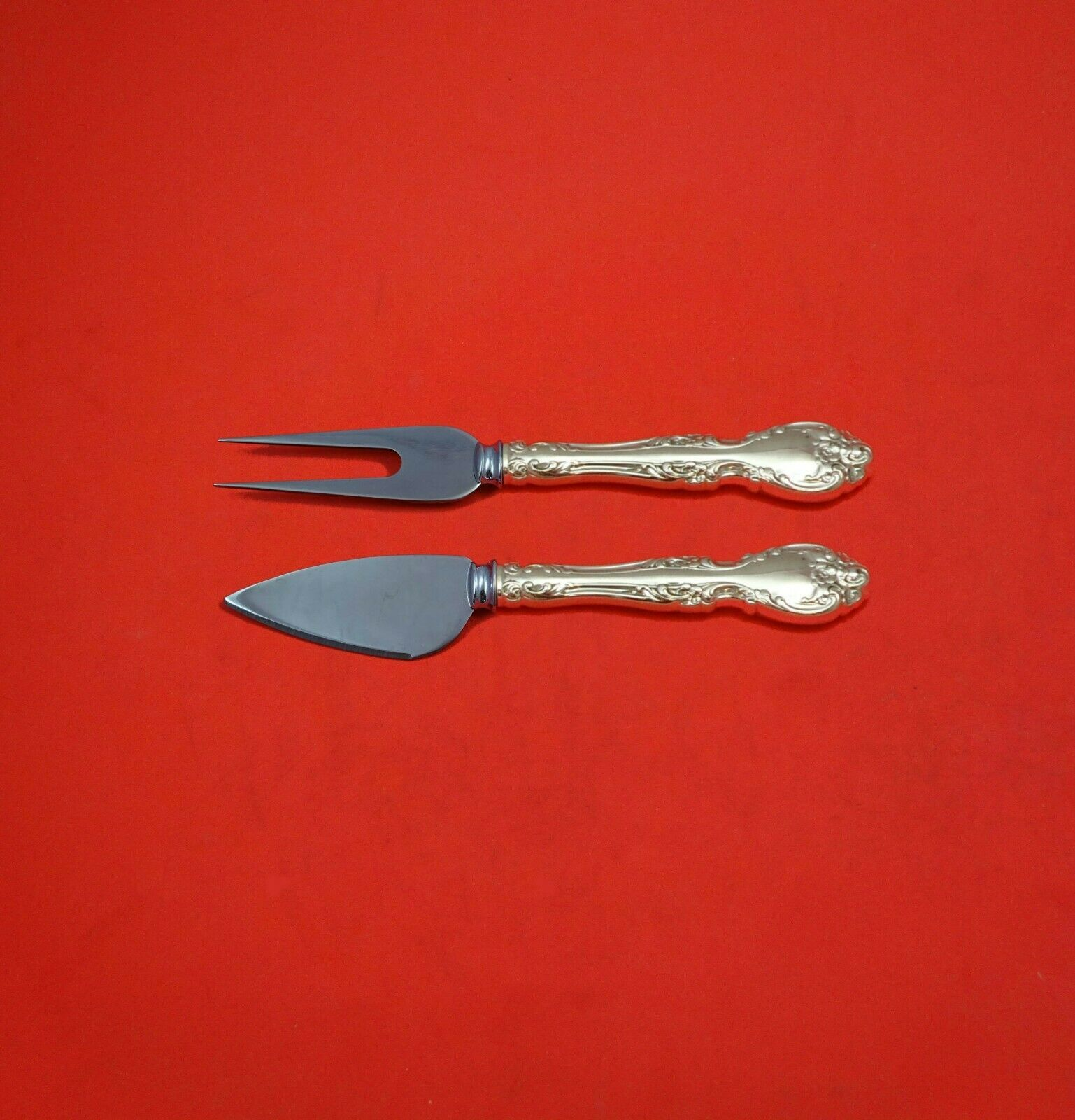 Melrose by Gorham Sterling Silver Hard Cheese Serving Set 2-Piece Custom Made - $109.00