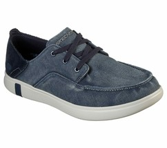 Men's SKECHERS Glide Ultra Omano Boat Shoe, 210060 /NVY Multiple Sizes Navy - $59.95