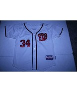 Youth Washington Nationals Bryce Harper YL Embroidered Jersey (White) Ma... - $28.04
