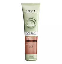 L'OREAL PURE CLAY CLEANSING EXFOLIATING SCRUB GEL LESS VISIBLE PORES 150ml - $10.57