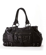 Linea Pelle Overnight 24 Hr Tote Bag Black NWT - $444.61