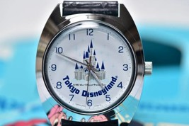 1983 Tokyo Disney Land Open hand winding Wrist watch Cinderella Castle - $393.03