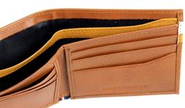 NEW TOMMY HILFIGER MEN'S LEATHER DOUBLE BILLFOLD ID WALLET HONEY TAN 31TL130014 image 5