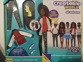 New Creatable World Deluxe Character Kit DC-725 Doll & Clothes Accessori... - $14.85