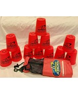 HOT PINK WSSA Speed Stacks Cup Stacking Set 12 Cups Sport with Bag FREE ... - $19.75