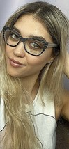 New ALAIN MIKLI A 46013 09uB 52mm Black Cats Eye Women's Eyeglasses Frame - $159.99