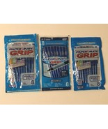 Paper Mate Ballpoint Grip Pens Blue Ink 3 Packs of 8 Ct Each Lot of 24 T... - $19.99