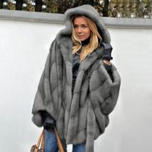 New Winter Fashion High Quality Thick Imitation Thick Mink Fur Coat image 4