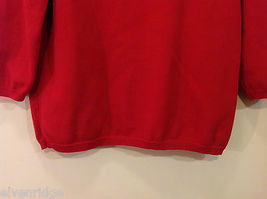 Alfred Dunner Red 3/4 Sleeve Sweater USA Flag Imitation, Size M, 100% cotton image 8