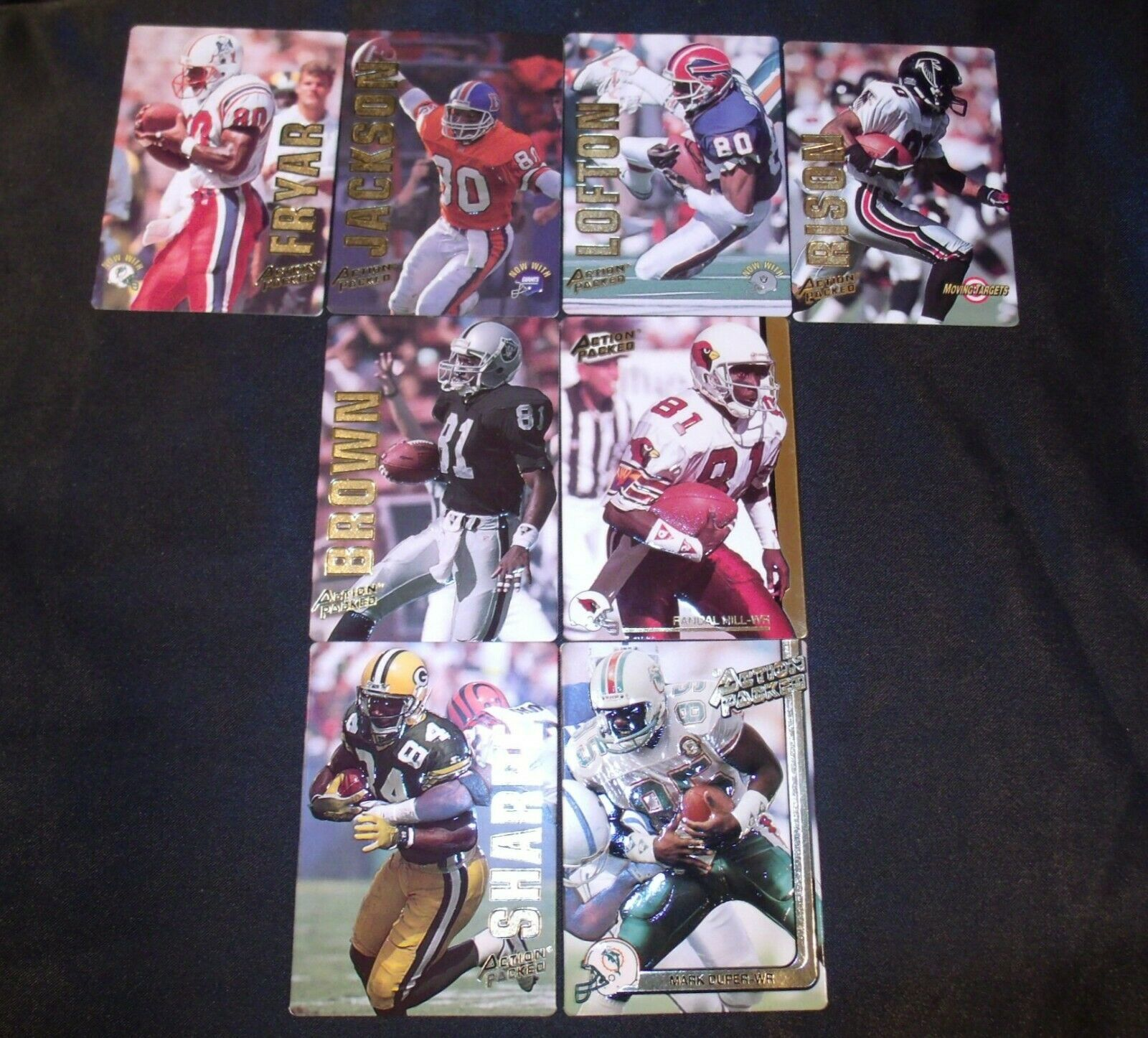 Action Packed Football Trading Cards WRs AA-19FTC3007 Vintage