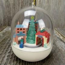 Last Minute Shopping Ornament Hallmark Kringle Town Christmas Magic Ligh... - $44.99