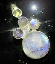 Haunted Necklace 3 Moons Grow Succeed Reach Goals Moon Fire Secret Ooak Magick - $8,937.77