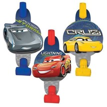 Disney Cars 3 Party Favor Blowouts 8 Per Package Birthday Supplies New - $4.21