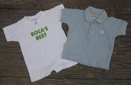 BOCA RATON RESORT Florida BABY CLOTHES ROMPER 6 mo and PIQUE POLO SHIRT ... - $14.24