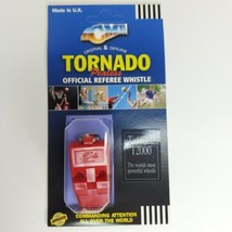 Acme Tornado T2000 Pealess Official Referee Whistle Red Most Powerful - $8.68