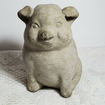 "Cement or Cast Stone Pig Hog Swine 5"" H Standing Yard Art Smooth Piggy O... - $26.11"