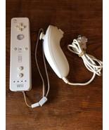 Official Genuine White Nintendo Wii Remote Controller RVL-003 & Nunchuck... - $24.95
