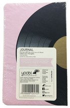 """Yoobi Pink Journal - 5.2"""" x 8.5"""" - 80 lined sheets - Vinyl Record - NEW sealed image 2"""