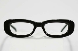 Fossil Unisex ANA Shiny Black Plastic Eyeglass Frames Designer Style Rx Eyewear - $9.12